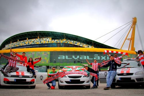 tres coches athletic en Lisboa