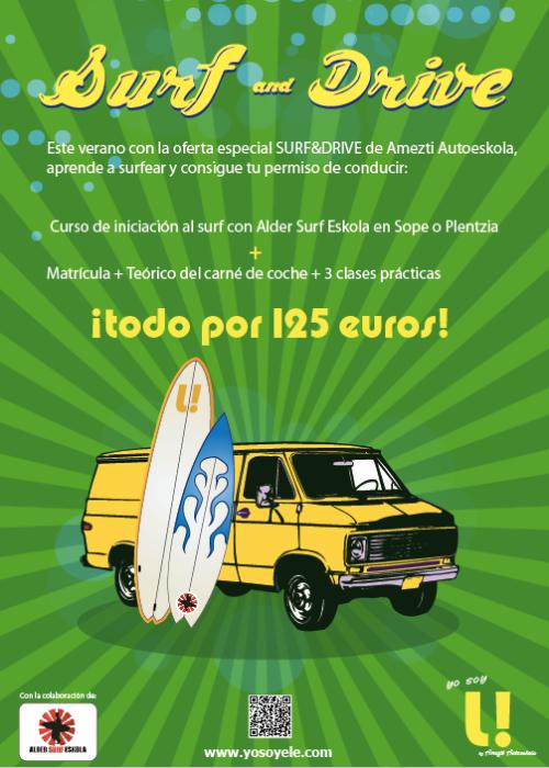 promoción carné de conducir + curso de surf